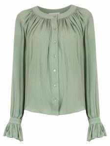 Olympiah silk Spinello shirt - Green