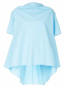 Marni bow-tied short sleeve blouse - Blue