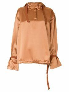 Roksanda hooded blouse - Brown