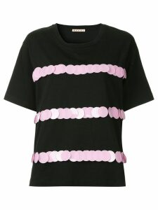 Marni embellished short-sleeve blouse - Black