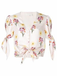 Borgo De Nor floral knotted blouse - Pink