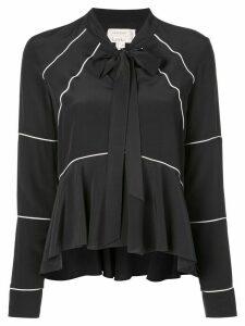 Nicole Miller contrast trim blouse - Black