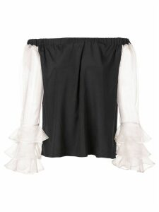 Nicole Miller off-the-shoulder blouse - Black