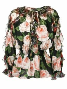 Dolce & Gabbana rose print blouse - Black