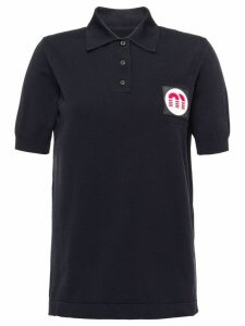 Miu Miu nylon polo shirt - Black
