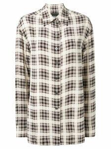 Marc Jacobs tartan pattern shirt - Neutrals