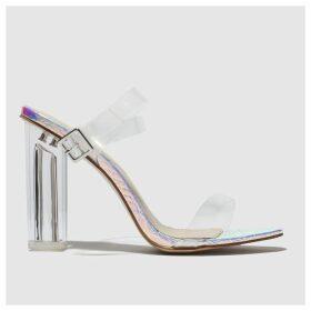 Public Desire Silver Alia High Heels