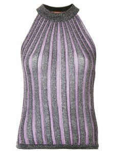 Missoni glitter halter-top - PURPLE