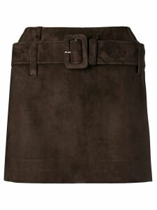Prada belted mini skirt - Brown