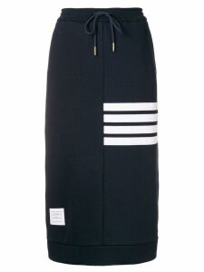 Thom Browne 4-Bar Loopback Sack Skirt - Blue