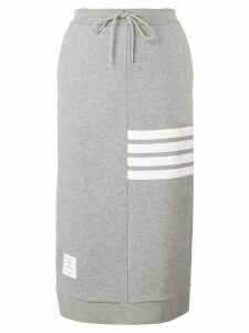 Thom Browne 4-Bar Loopback Sack Skirt - Grey