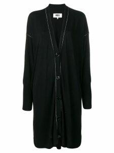 Mm6 Maison Margiela contrast stitch cardi-coat - Black