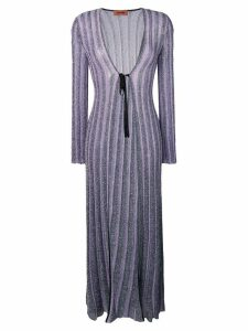 Missoni glitter knitted long cardigan - Blue