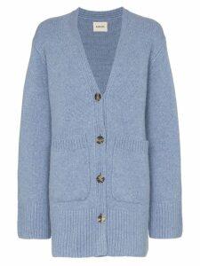 Khaite Lucia oversized cashmere cardigan - Blue