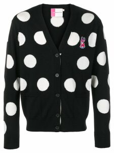 Maison Kitsuné Acide fox patch cardigan - Black