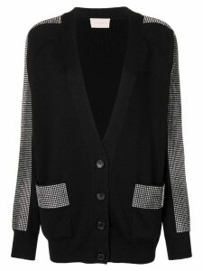 Christopher Kane crystal band cardigan - Black