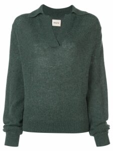 Khaite V neck jumper - Green