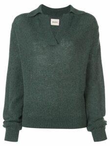 Khaite V neck jumper - Green