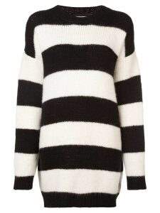 Dsquared2 oversized knitted striped sweater - Black