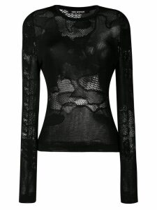 Neil Barrett mesh long-sleeve top - Black