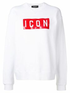 Dsquared2 Icon print sweatshirt - White