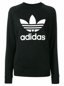 adidas logo sweatshirt - Black