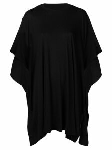 Y's draped oversized T-shirt - Black