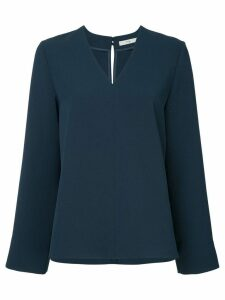 Tibi v-neck top - Blue