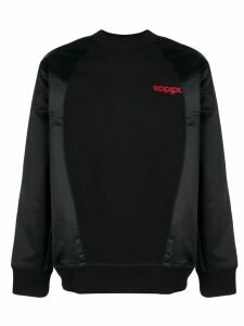 adidas Originals by Alexander Wang crew neck sweatshirt - Black