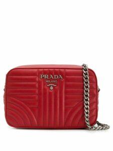 Prada quilted-effect shoulder bag - Red