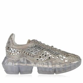 Jimmy Choo Crystal Shimmer Low Top Trainers