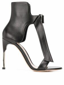 Alexander McQueen heart sandals - Black