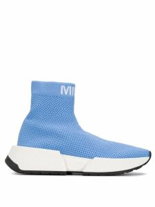 Mm6 Maison Margiela logo mesh sock sneakers - Blue