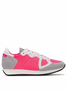Philippe Model panelled lace-up sneakers - PINK