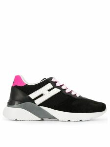 Hogan panelled chunky sole sneakers - Black