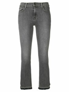 J Brand Selena mid rise cropped jeans - Grey