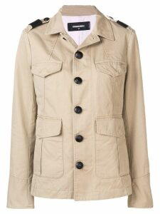 Dsquared2 long sleeved safari jacket - NEUTRALS