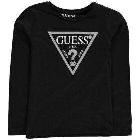 Guess Long Sleeve T Shirt - Black/White