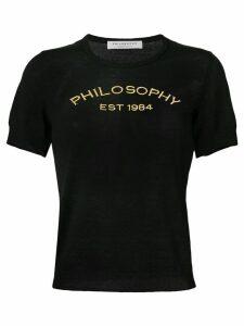 Philosophy Di Lorenzo Serafini embroidered logo T-shirt - Black