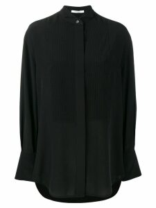 Givenchy pleated front bib blouse - Black