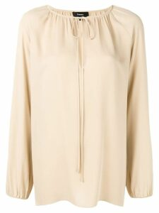 Theory tied neck blouse - Neutrals
