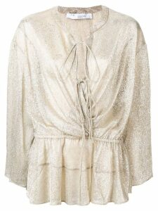 IRO shimmer longsleeved blouse - Neutrals