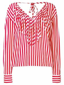 MSGM striped blouse - Red