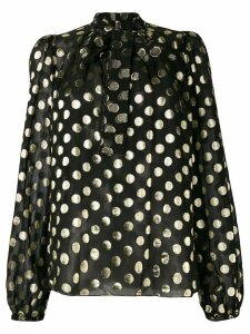 Dolce & Gabbana metallic polka dot blouse - Black