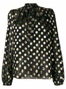 Dolce & Gabbana metallic polka dot blouse - Black