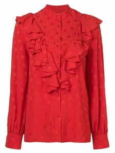 MSGM ruffled spotted blouse - Red