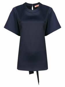 Maggie Marilyn ruffle back blouse - Blue