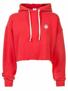 Re/Done cropped raw hoodie - Red