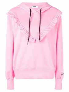 MSGM bib hoodie - PINK