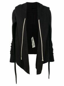 Rick Owens DRKSHDW open front hoodie - 09 Black